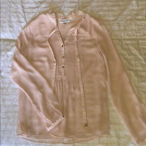 Calvin Klein size small blush lined blouse